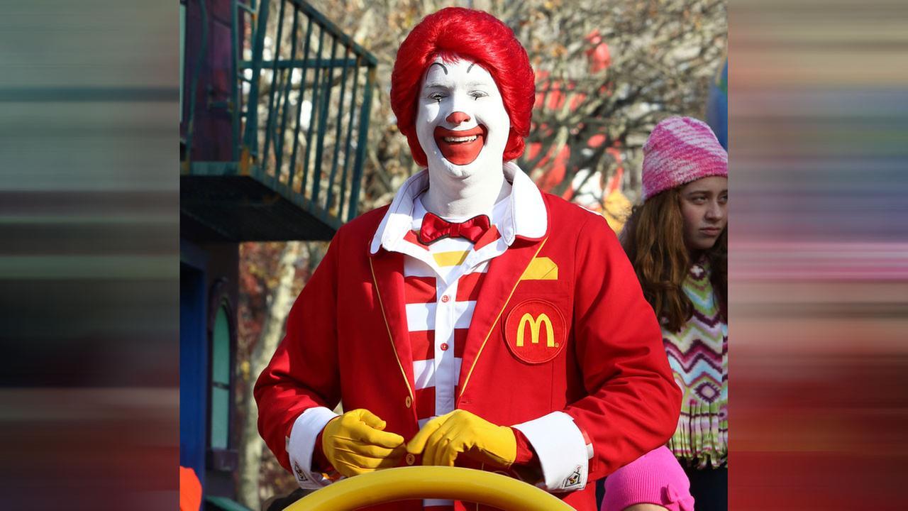 Ronald McDonald participates in the Macys Thanksgiving Day Parade on Thursday, Nov. 26, 2015, in New York.Greg Allen/Invision/AP