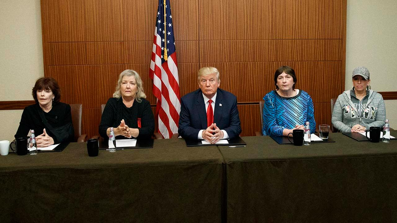 Trump highlights Bill Clinton accusers