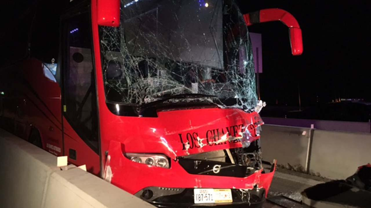 Seven people were injured when a bus slammed into a big rig in Fort Bend County