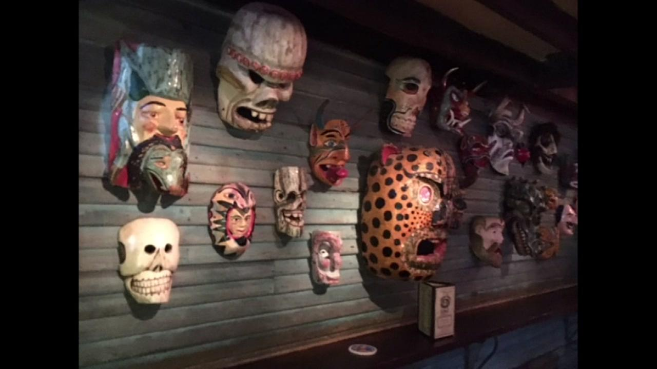 The Mask wall at Under the Volcano