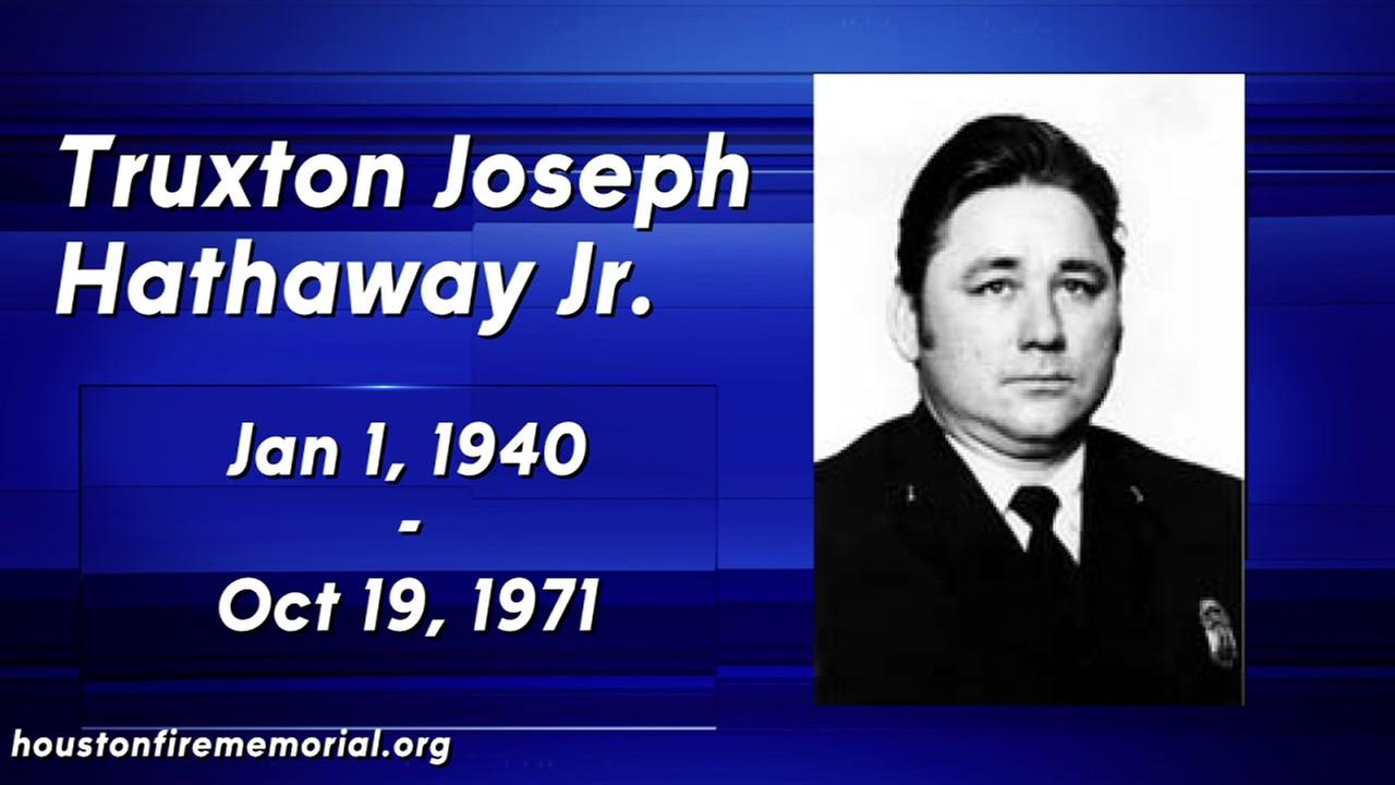Truxton Hathaway, 31,  was assigned to the fire academy and went to the scene of the explosion to record the incident for training. He was killed when the second rail car exploded.