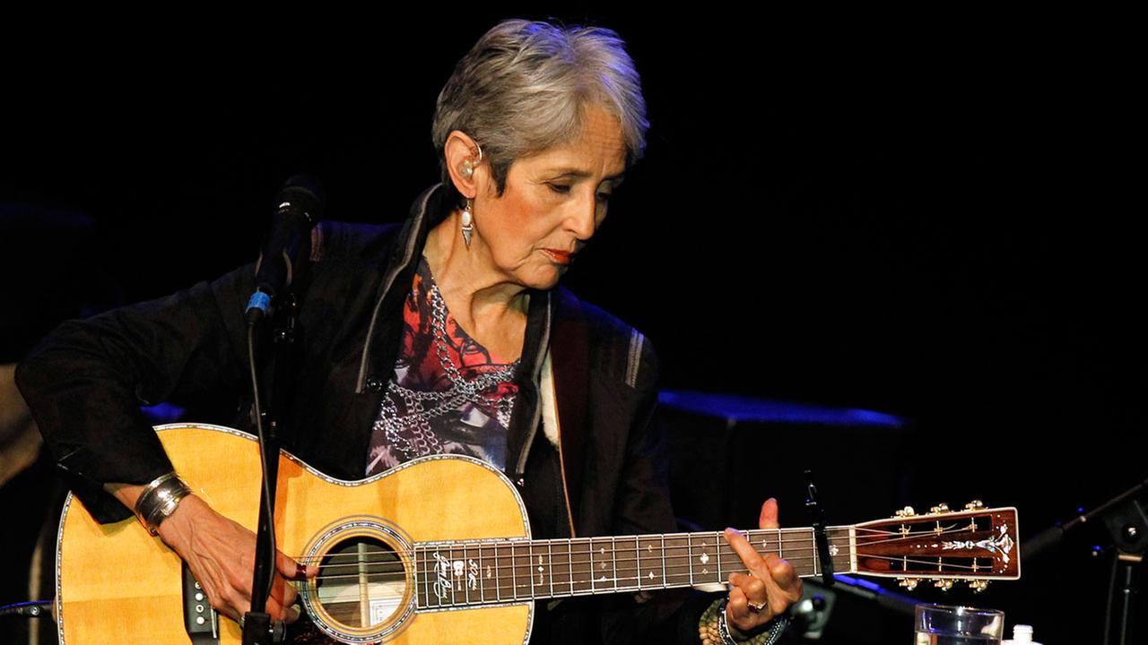 American folk singer Joan Baez performs at a concert in Burgos, northern Spain, on Wednesday, March 3, 2010.AP Photo/I.Lopez