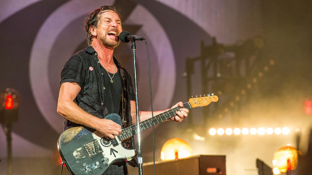 FILe - In this June 11, 2016, file photo, Eddie Vedder of Pearl Jam performs at Bonnaroo Music and Arts Festival in Manchester, Tenn.Amy Harris/Invision/AP, File