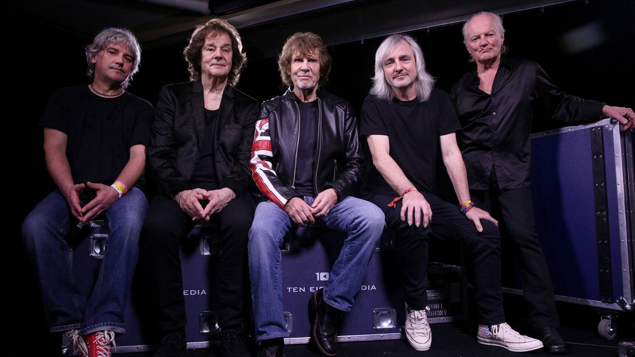 From left, Steve Rodford, Colin Bluntstone, Rod Argent, Tom Toomey and Jim Rodford of The Zombies pose for a portrait during South By Southwest on Saturday, March 21, 2015.Rich Fury/Invision/AP