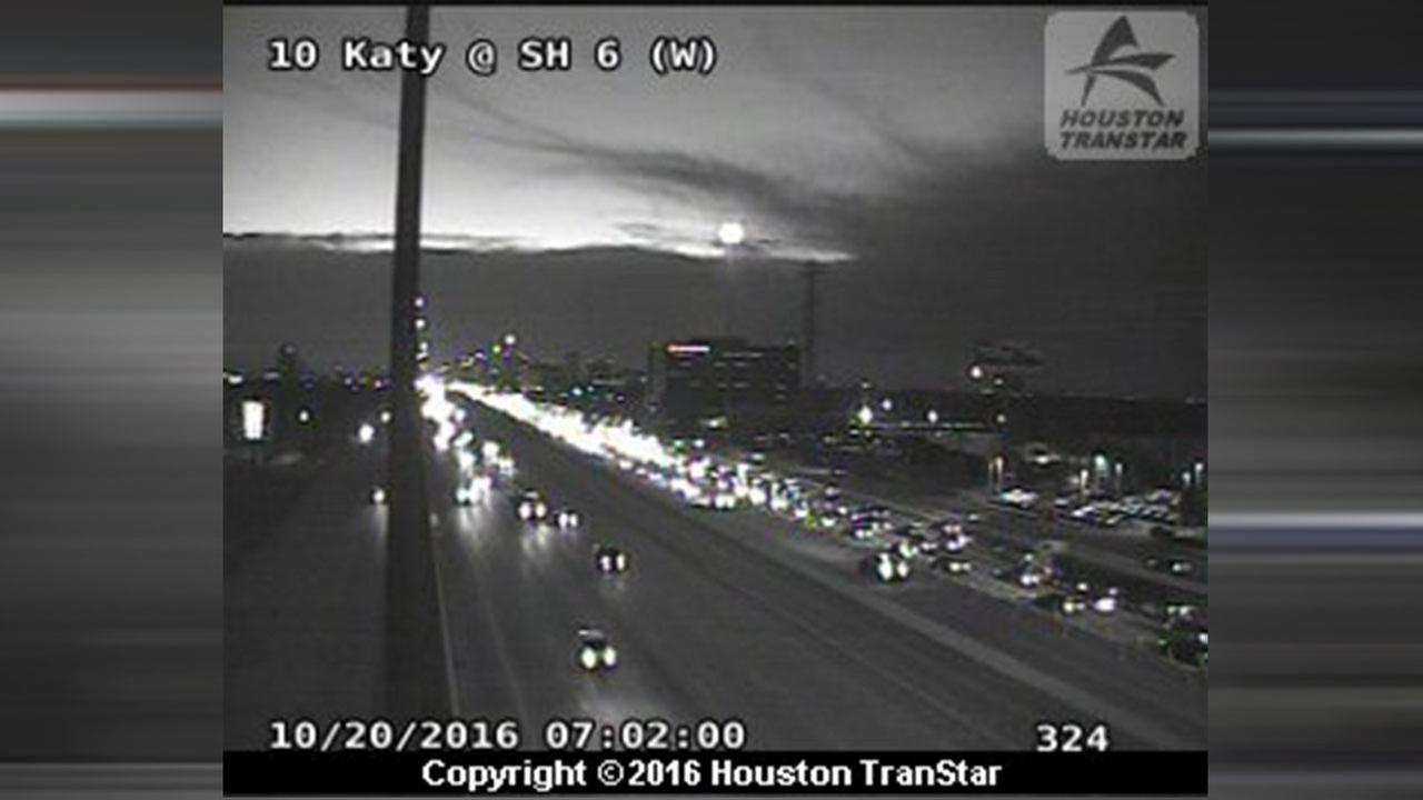 Katy Freeway at Dairy Ashford accident