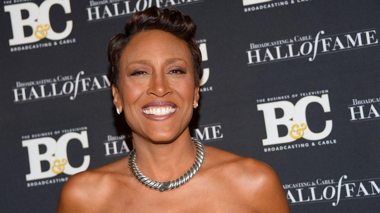 Robin Roberts became one of the first openly gay news anchors when she recognized her longtime girlfriend in 2013. Roberts says she helped in her battle with a rare blood disorder.Evan Agostini/Invision/AP