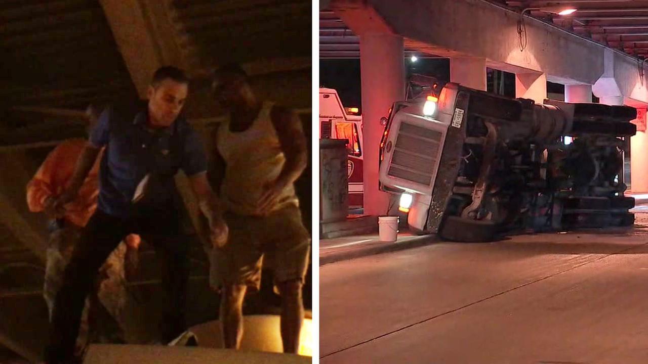 Foti Kallergis rescues truck driver
