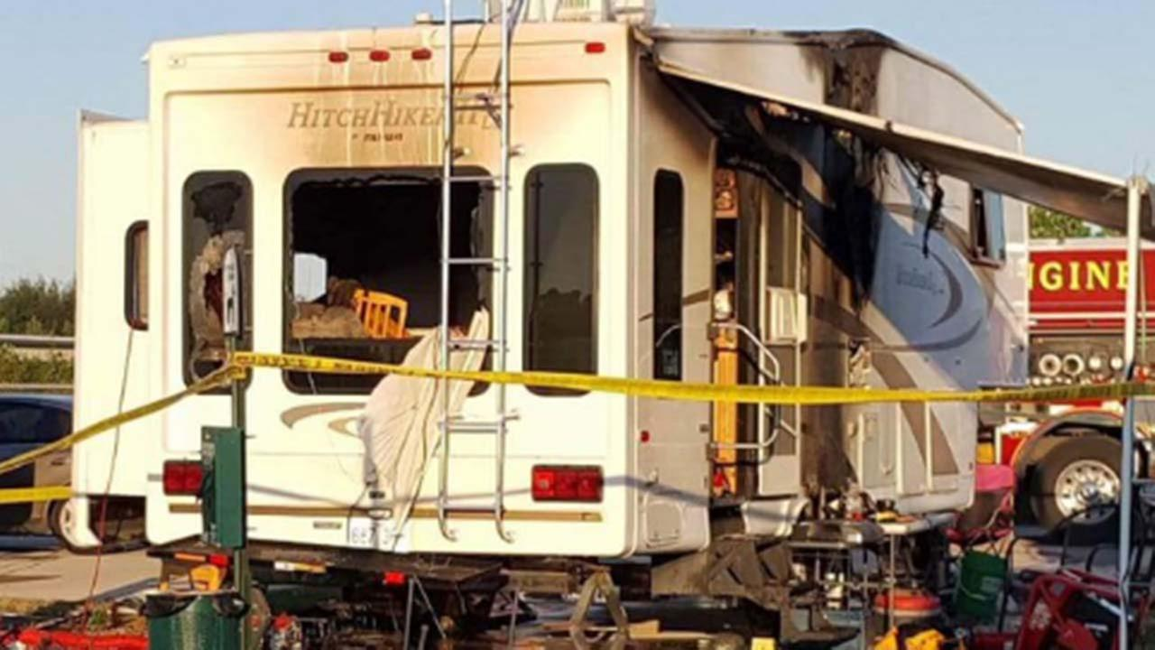 Seven People Treated After Motor Home Fire In Katy Area