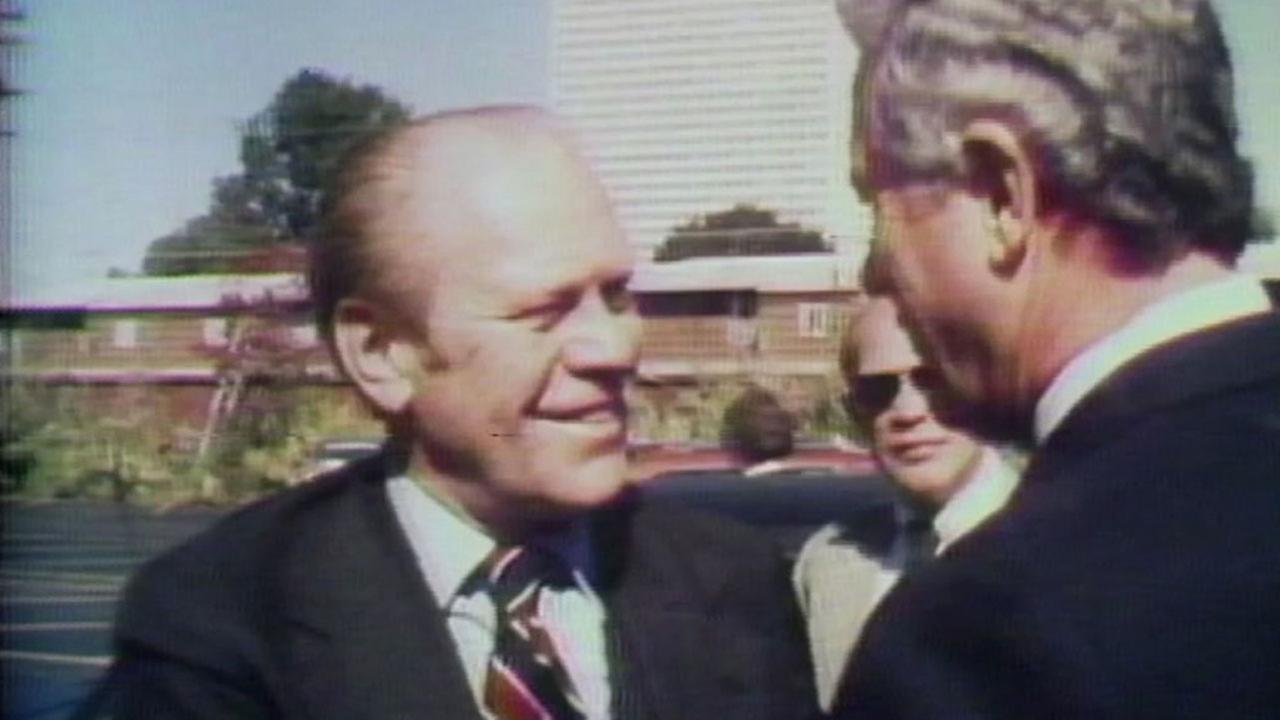 President Gerald Ford visits KTRK