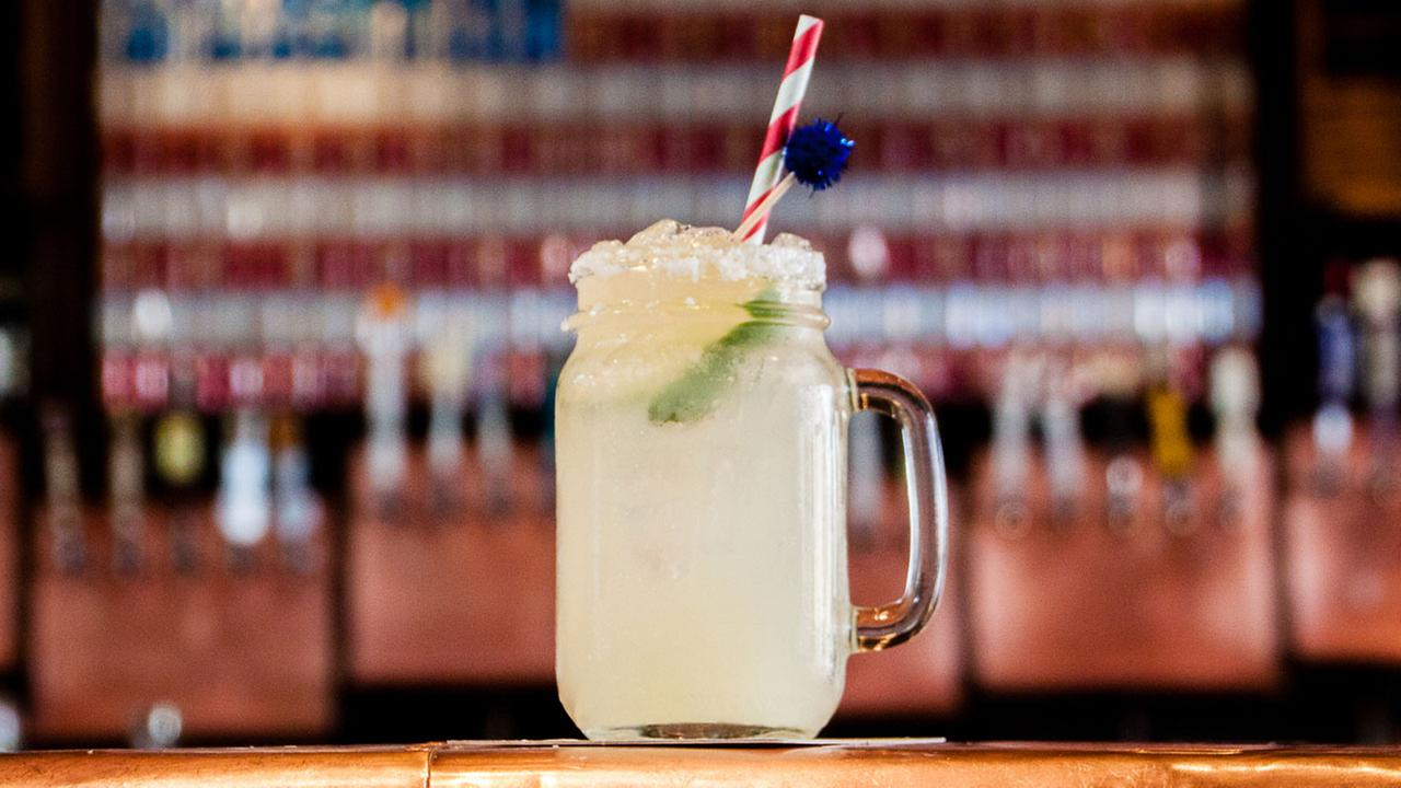 A frosty cold concoction with a liberal helping of Dulce Vida Tequila and Paulas Orange, Hillarita is delivered in a mason jar by your own private server.