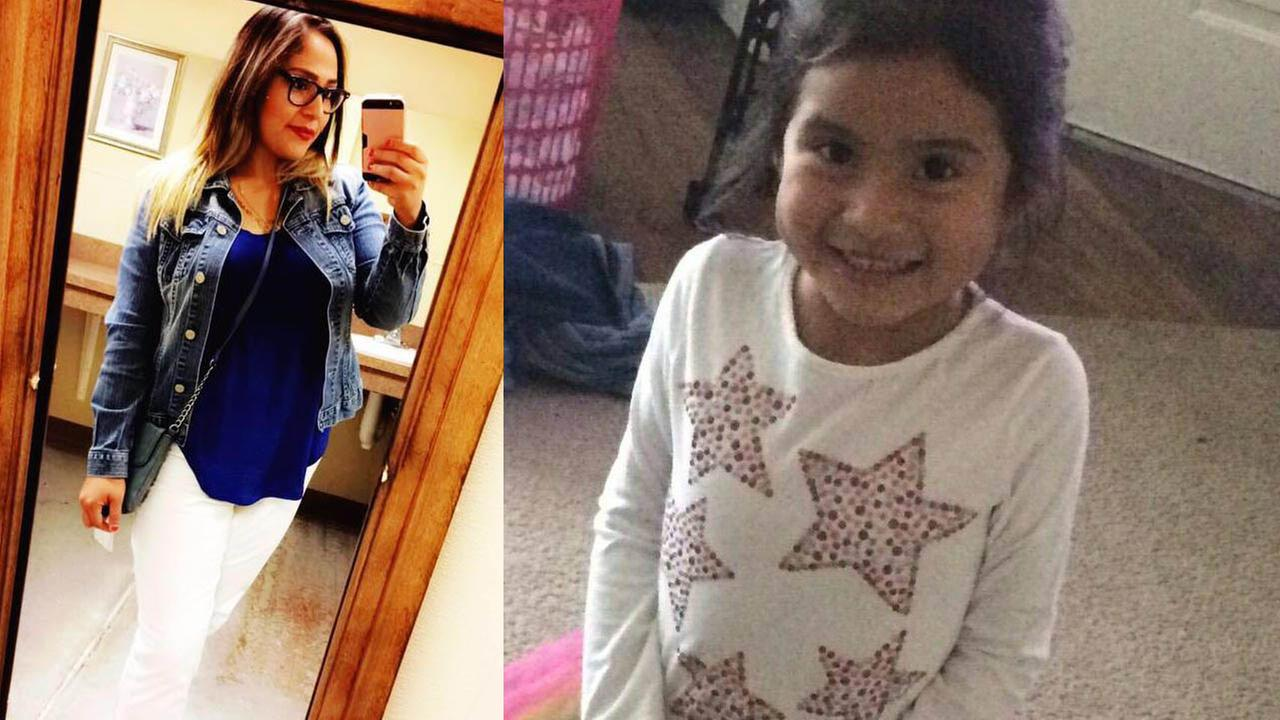 Diana Gomez, left, her 4-year-old daughter Ava Castillo, right, and her 10-year-old daughter Betzida Castillo were shot Monday night. Ava died from her wounds.