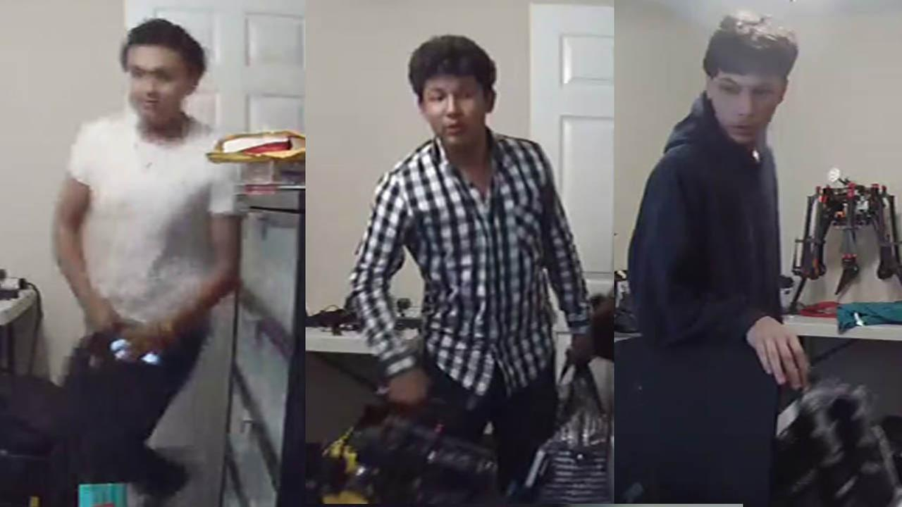 Three people are seen on surveillance video after they broken into a home in the Spring Branch area of Houston.