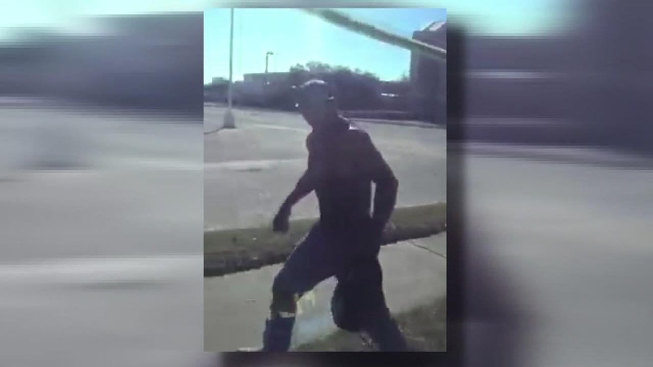 A man is seen in this video and witnesses say he punched a man on a METRO bus.