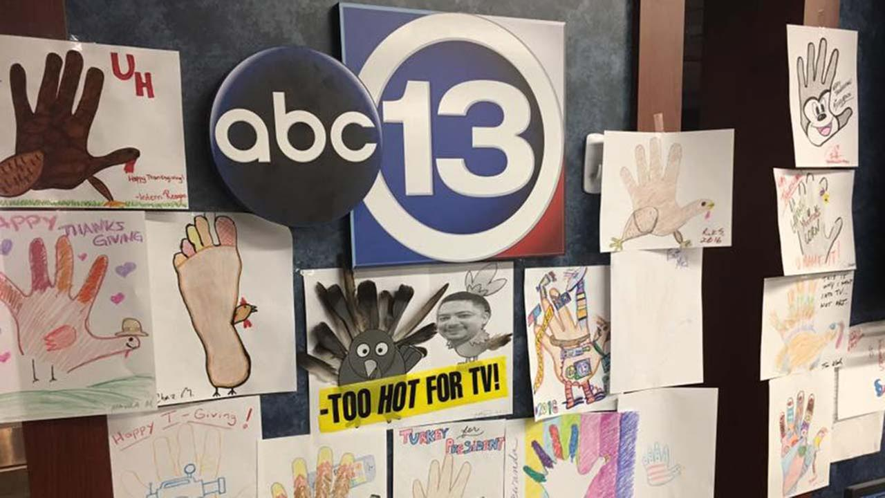 The ABC13 family created hand turkeys that are crafty, clever and just a little bit cheeky.