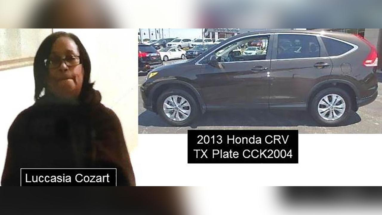Authorities say 73-year-old Luccasia Cozart was last seen on Saturday afternoon in Austin.