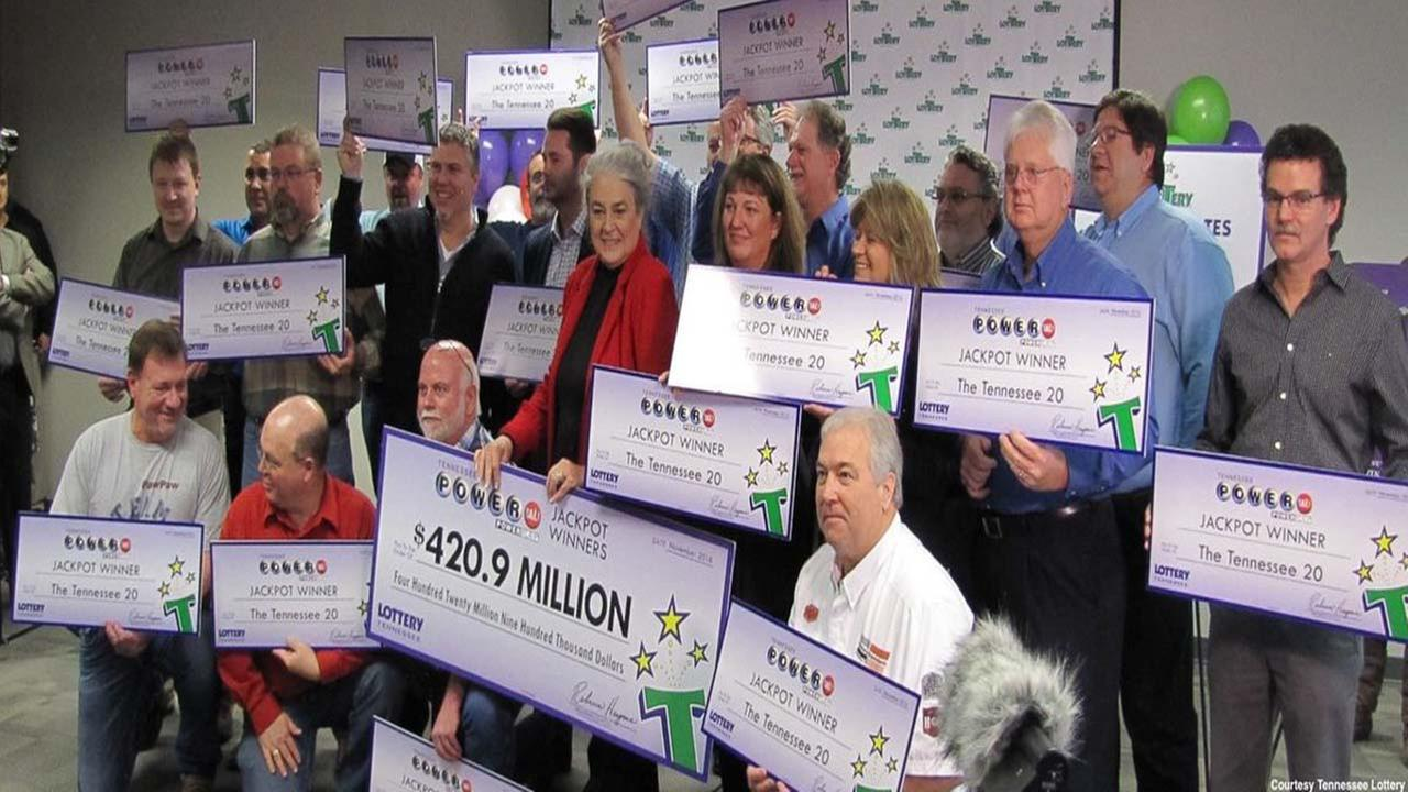 Twenty co-workers claimed their multi-million dollar prize Tuesday morning after winning last weeks Powerball jackpot.