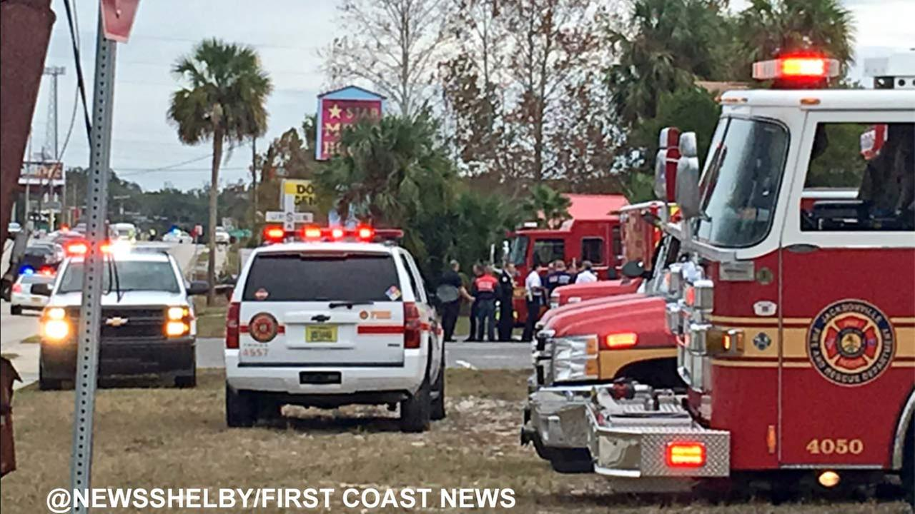 A gunman held hostages inside the Community First Credit Union in Jacksonville, Florida.