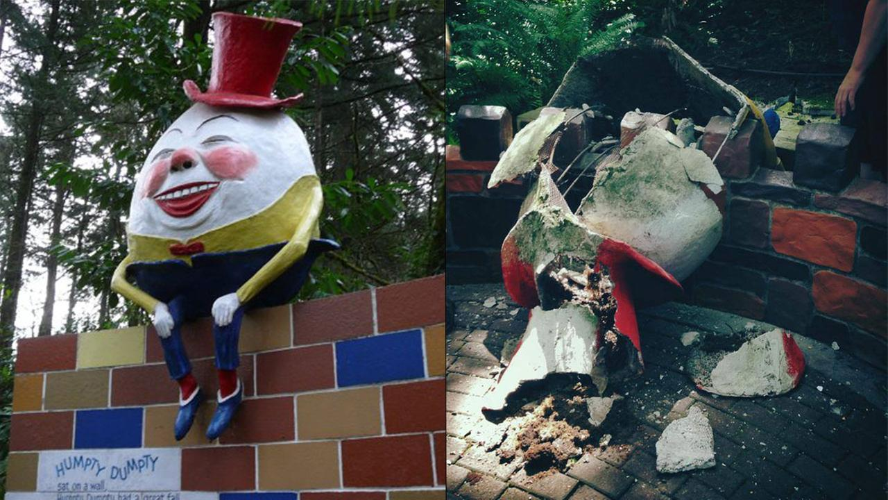 Humpty Dumpty sculpture