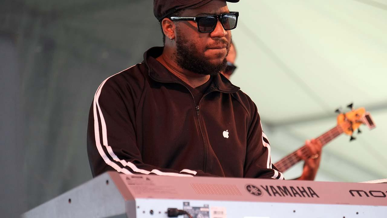 Robert Glasper performs at the Newport Jazz Festival in Newport, R.I. on Saturday, Aug. 3, 2013.   (AP Photo/Joe Giblin)AP
