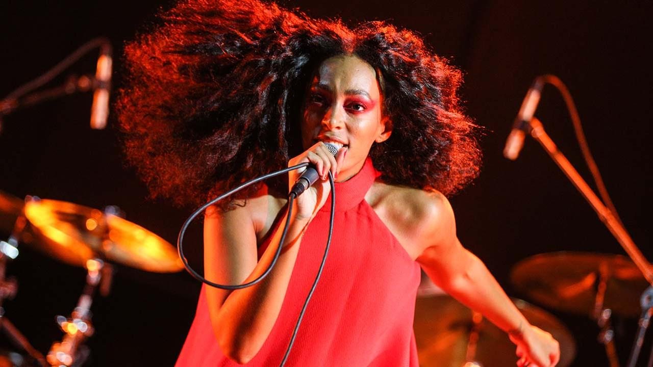Solange performs during FYF Fest at L.A. Memorial Sports Arena and Exposition Park on Sunday, Aug. 23, 2015, in Los Angeles. (Photo by Rich Fury/Invision/AP)