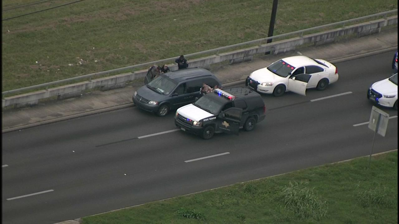 Police chase in southwest Houston ends with a woman in custody