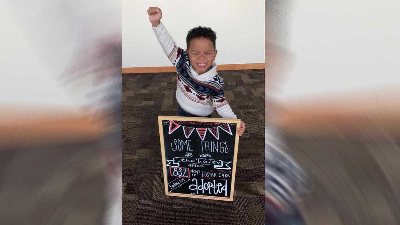 Adoption photo goes viral