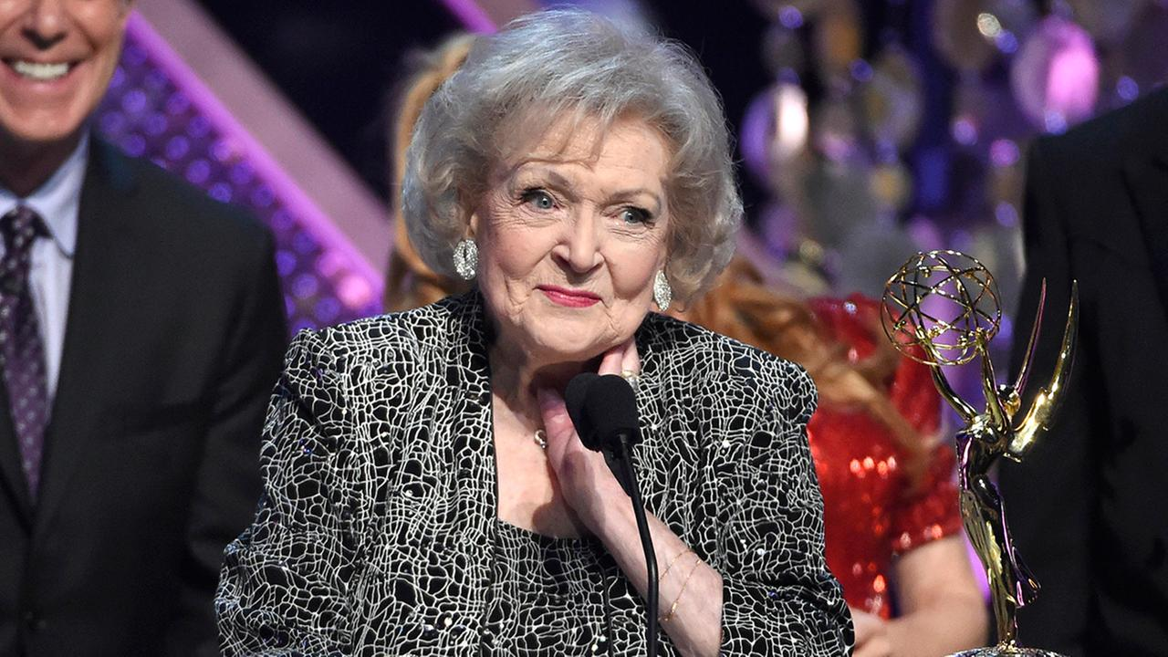 Betty White accepts award at Daytime Emmy Awards