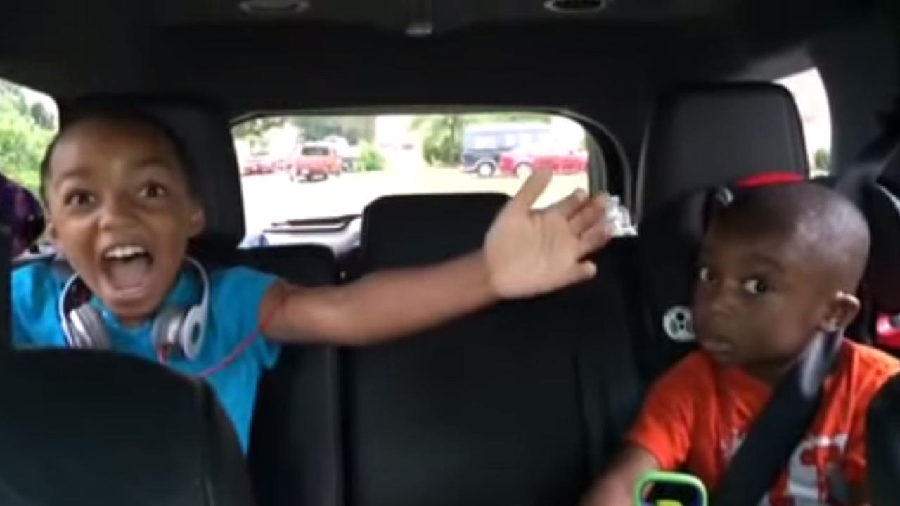 kids reacting to news about disney world