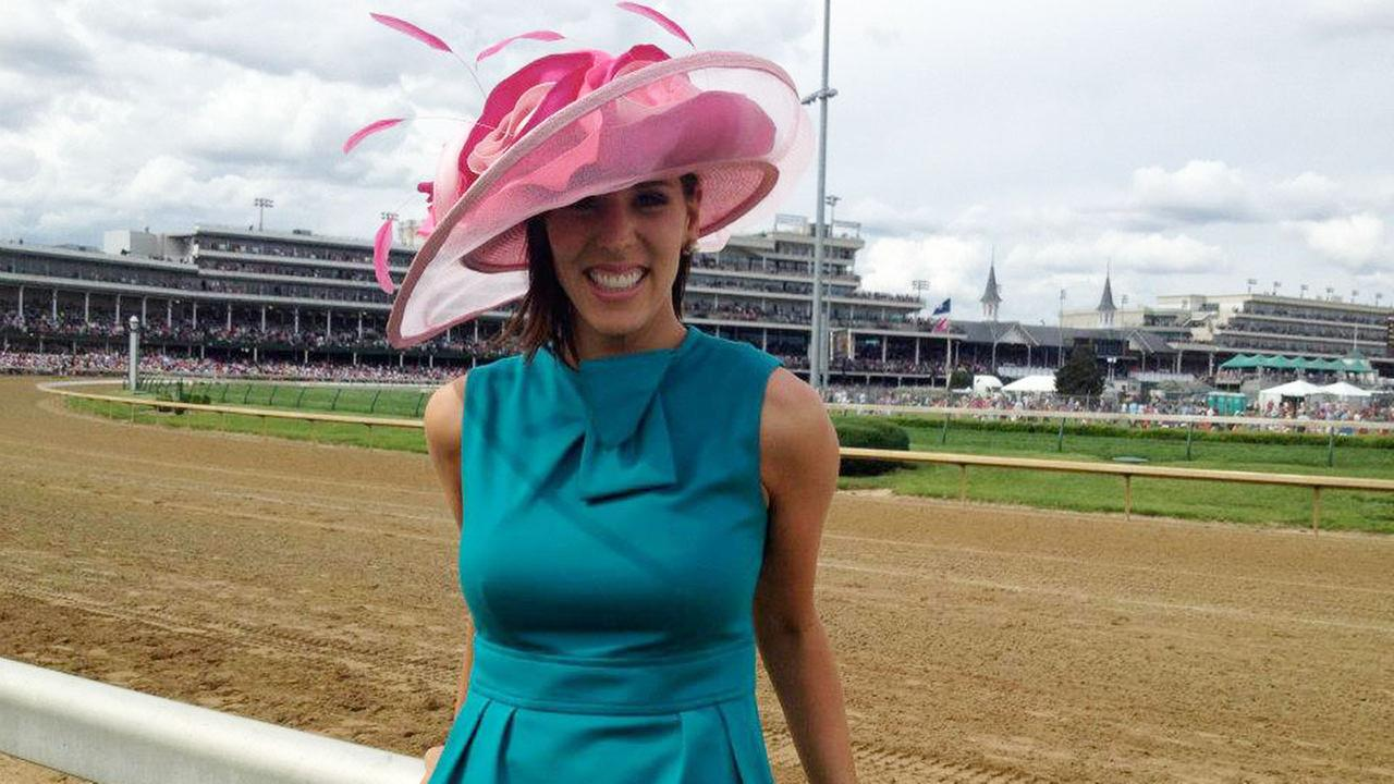 Courtney Fischer, back when she was a reporter at WLEX in Lexington, Kentucky, covering the--you guessed it--Kentucky Derby. (Look at that hat!)