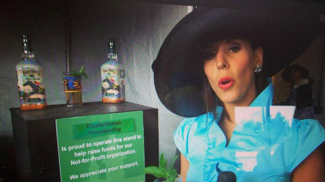 Courtney Fischer, formerly a reporter at Lexingtons WLEX, covering the Kentucky Derby! (Mint Juleps, anyone?)
