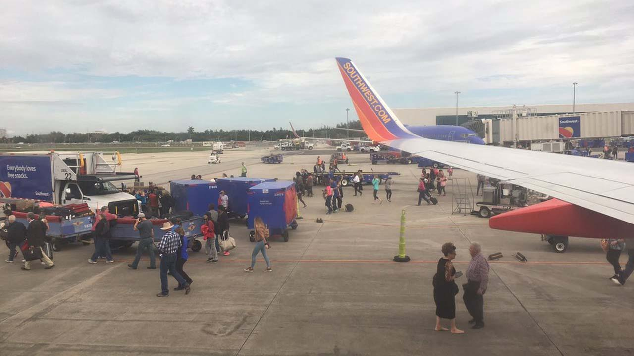 ABC13 reporter Steve Campion is on the tarmac in Ft. Lauderdale.