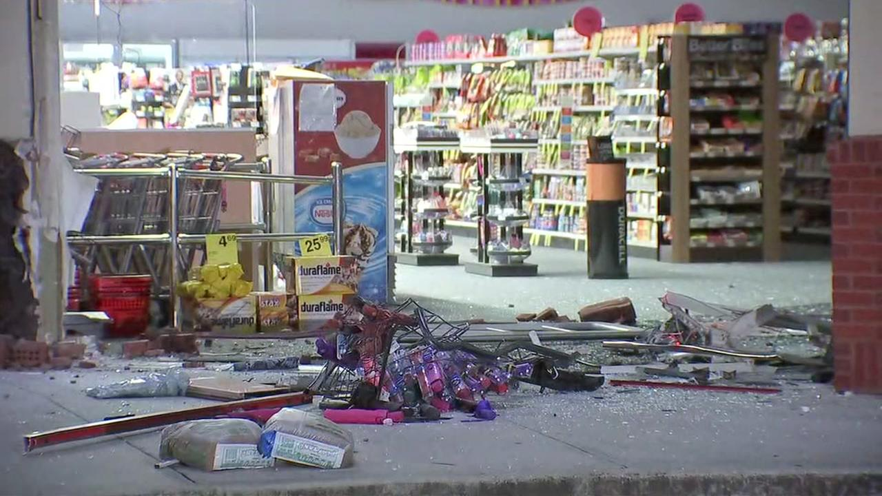 Truck rams into two CVS pharmacies