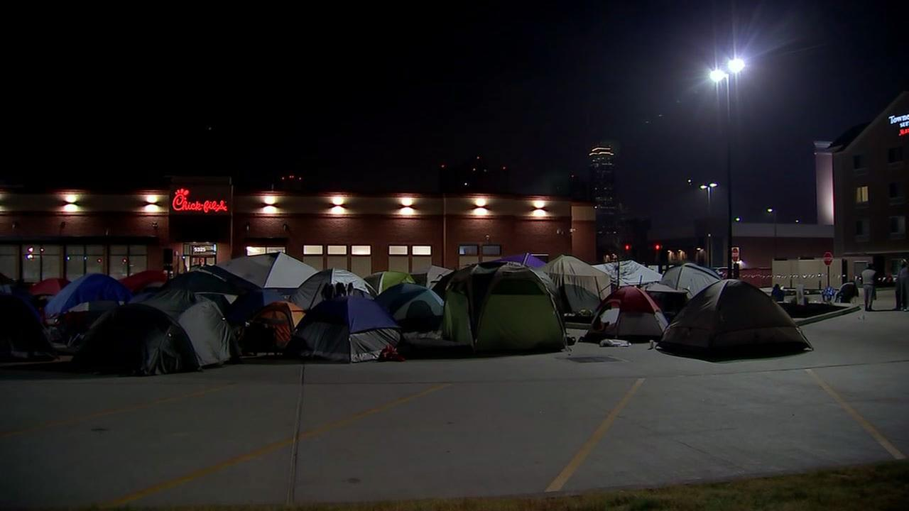 Fans camped out at new Chick-fil-A location in Houston