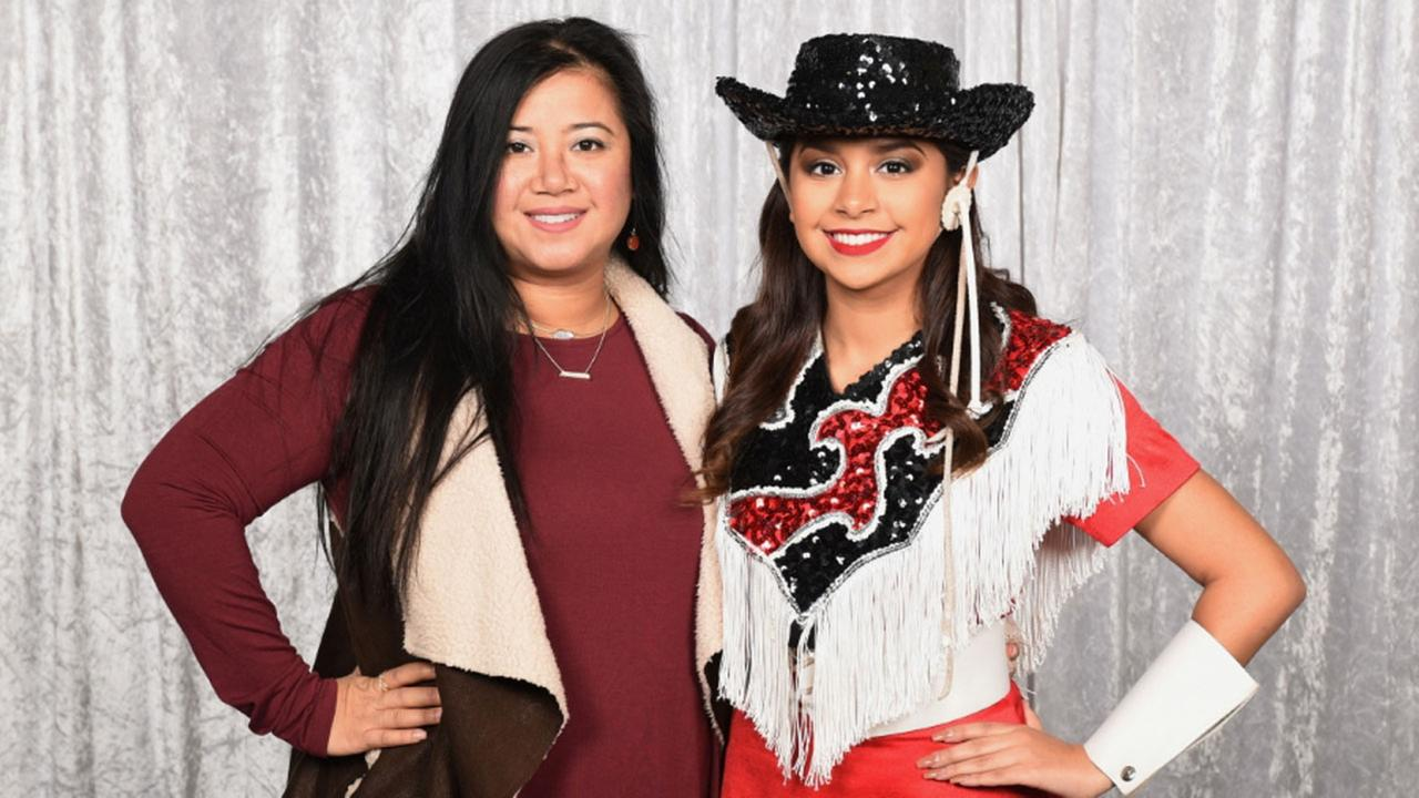 South Houston High School dance instructor Saranya Taylor and Aylene Espinoza.