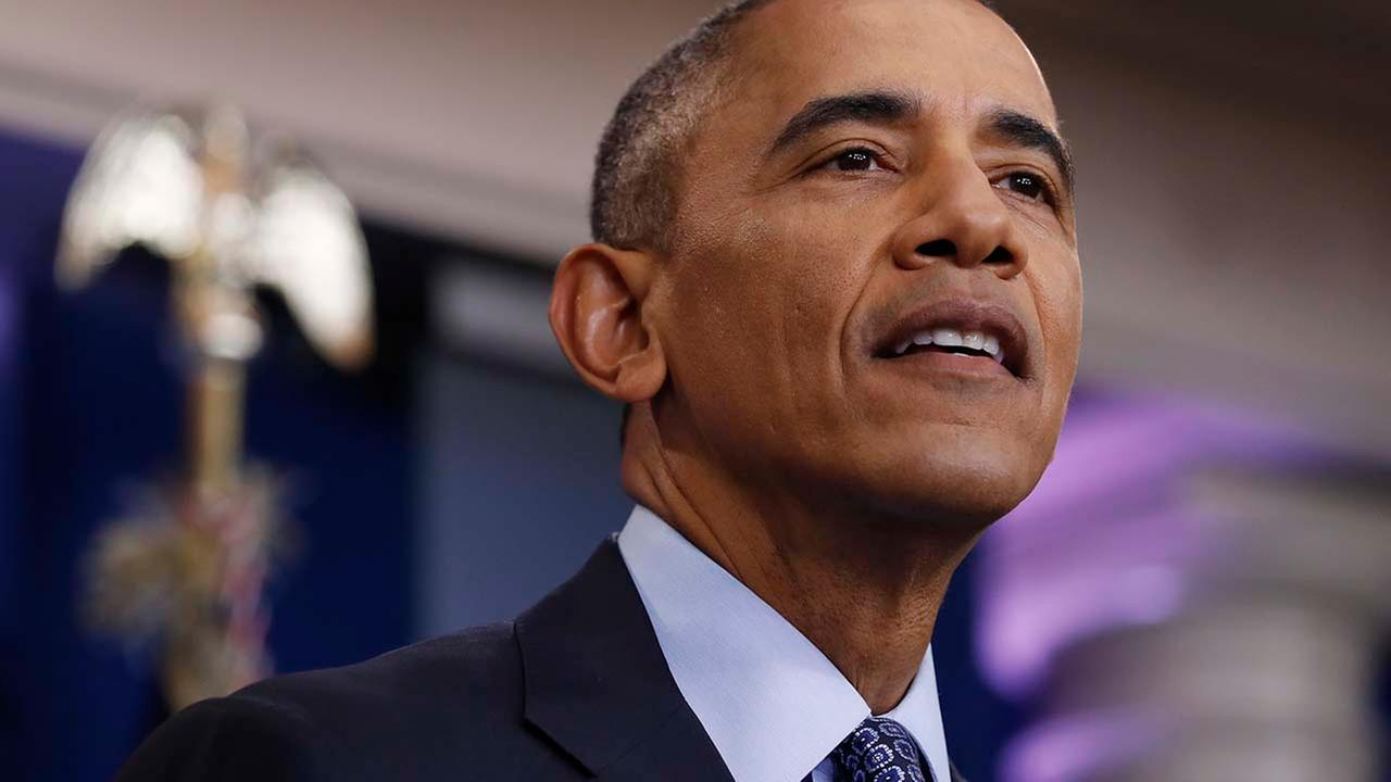 President Barack Obama prepares to speak at his final presidential news conference, Wednesday, Jan. 18, 2017, in the briefing room of the White House in Washington. (AP Photo/Carol