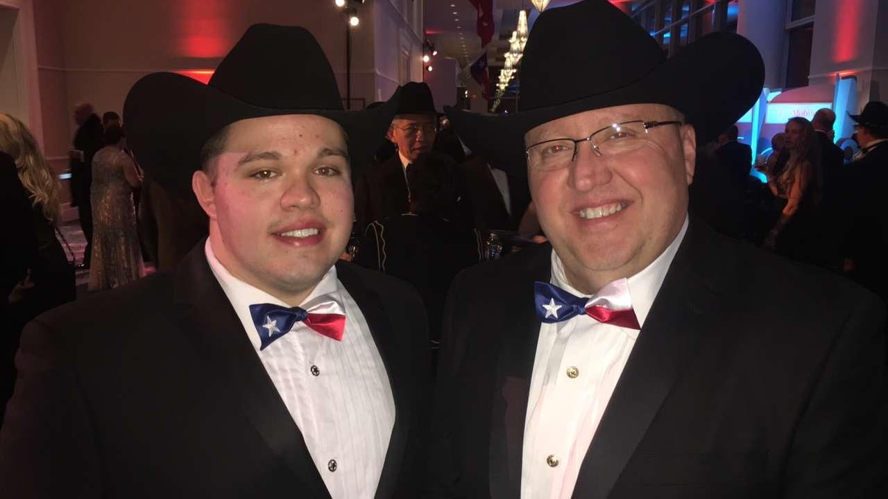 Texans represent well at inauguration balls Thursday night.Miya Shay
