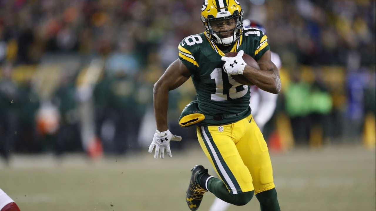 FILE - In this Sunday, Jan. 8, 2017 file photo, Green Bay Packers wide receiver Randall Cobb (18) runs during the second half of an NFC wild-card NFL football game.AP
