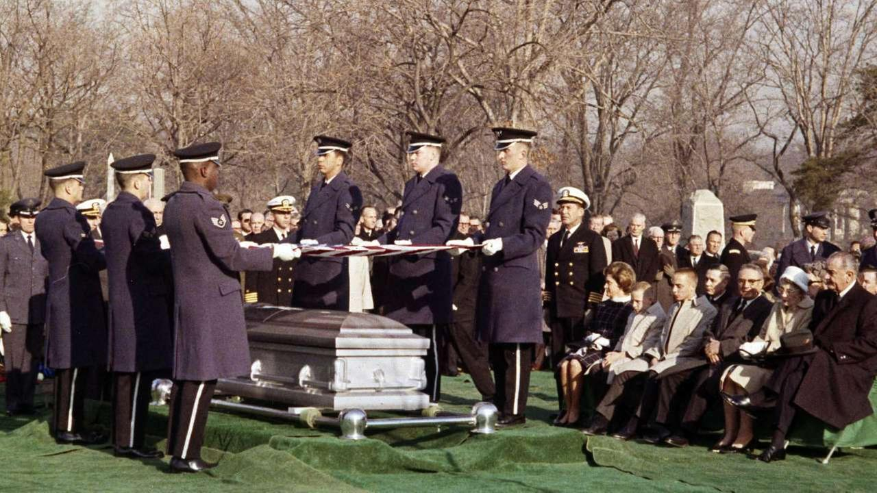 FILE - In this Jan. 31, 1967 file photo, mourners attend the burial of astronaut Virgil Grissom at the Arlington National Cemetery in Arlington, Va.AP