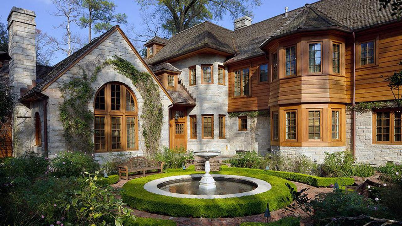 This English country home in River Oaks sold for over $10 million. It features  wine cellar, media room, guest house, theatre and an apartment over the garage.Houston Association of Realtors