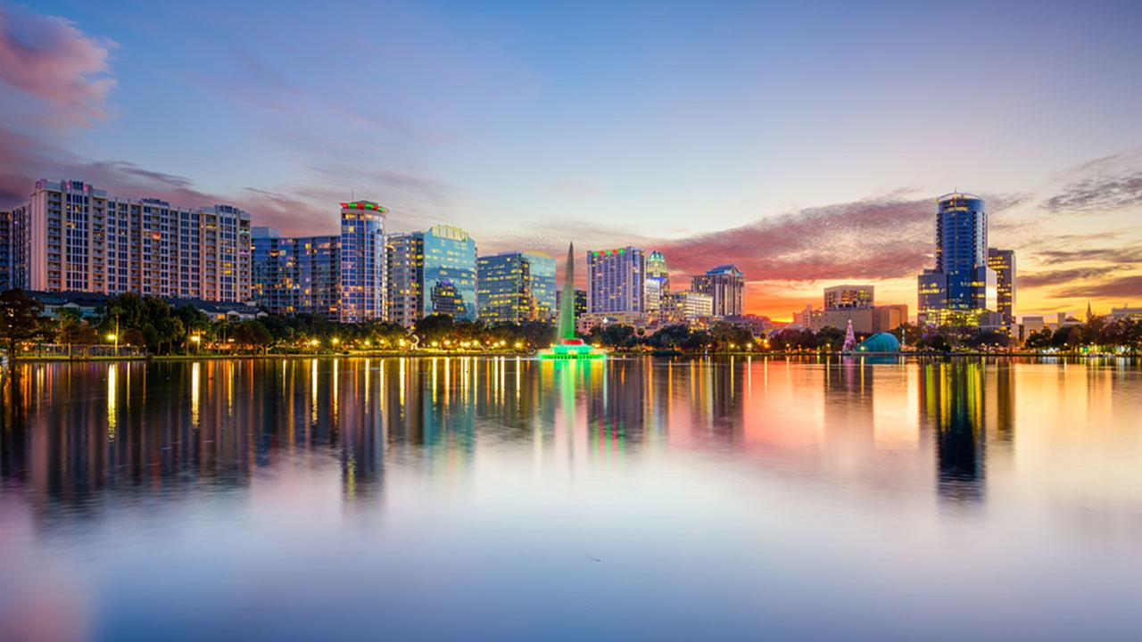 Orlando, Florida, ranked as the nations third most romantic city.Shutterstock