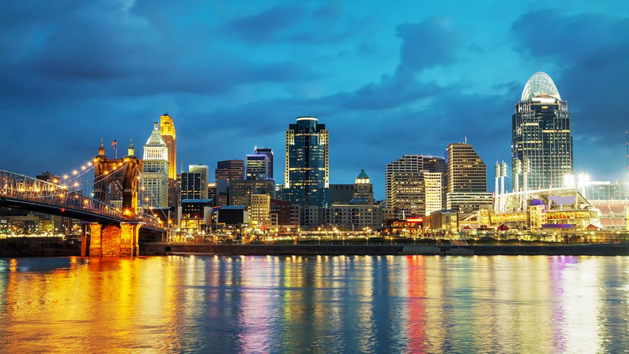 Cincinnati, Ohio, is the nations seventh most romantic city.Shutterstock