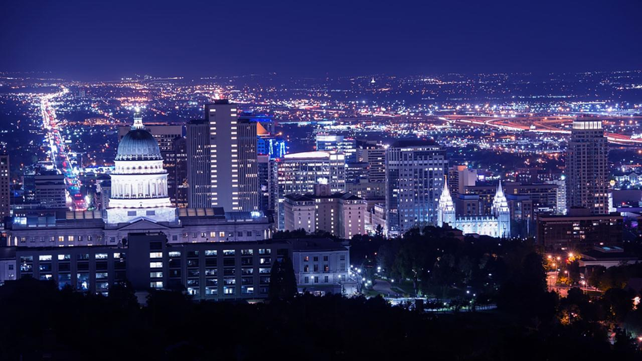 Salt Lake City, Utah, is the nations fifth most romantic city.Shutterstock