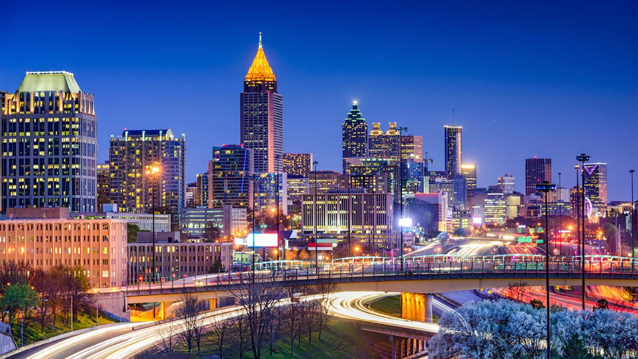 Atlanta, Georgia, is the countrys ninth most romantic city, according to Amazon.Shutterstock