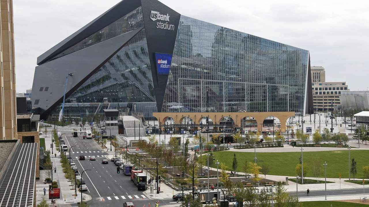 2018 - In this photo taken Sept. 15, 2016, US Bank Stadium, the new home of the NFL Minnesota Vikings football team, is shown in Minneapolis. It will host the Super Bowl in 2018.AP