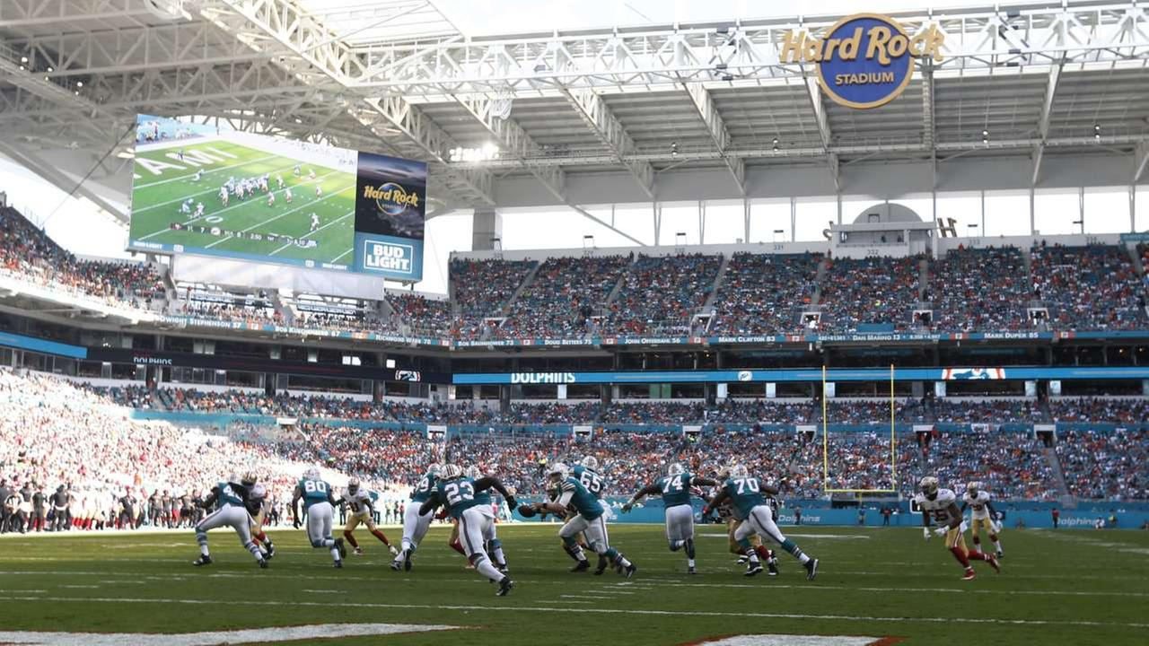 2020 - The Super Bowl in 2020 will be held inside the Dolphins stadium in Miami Gardens, Fla.AP