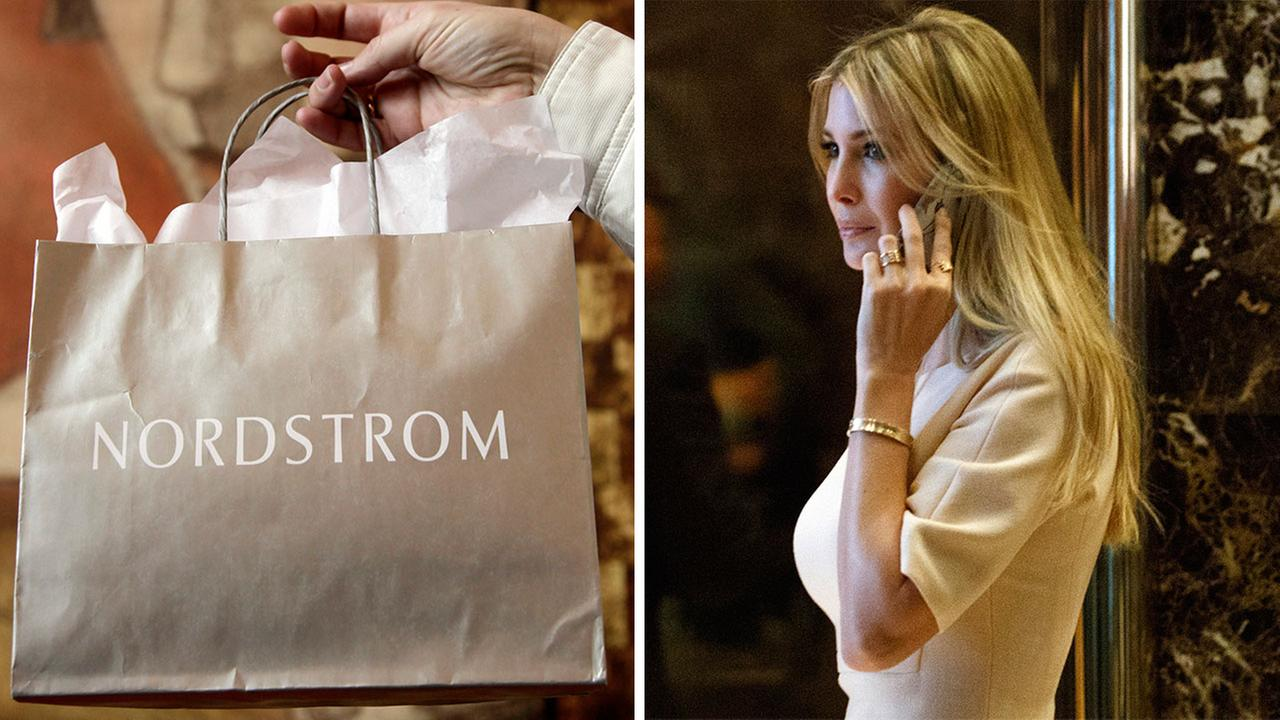 Nordstrom shares sunk after President Trump tweeted that the department store chain had treated his daughter so unfairly when it announced last week that it would stop selling Iv