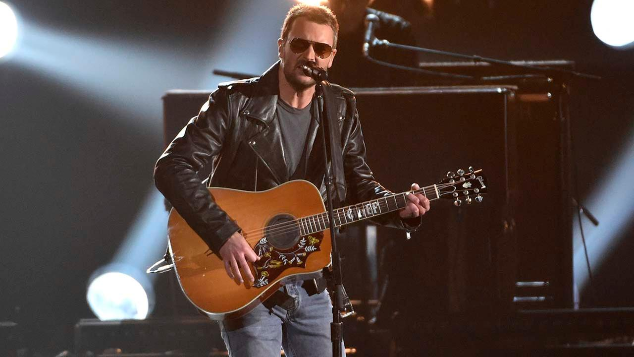 Eric Church performs at the 49th annual CMA Awards at the Bridgestone Arena on Wednesday, Nov. 4, 2015, in Nashville, Tenn.