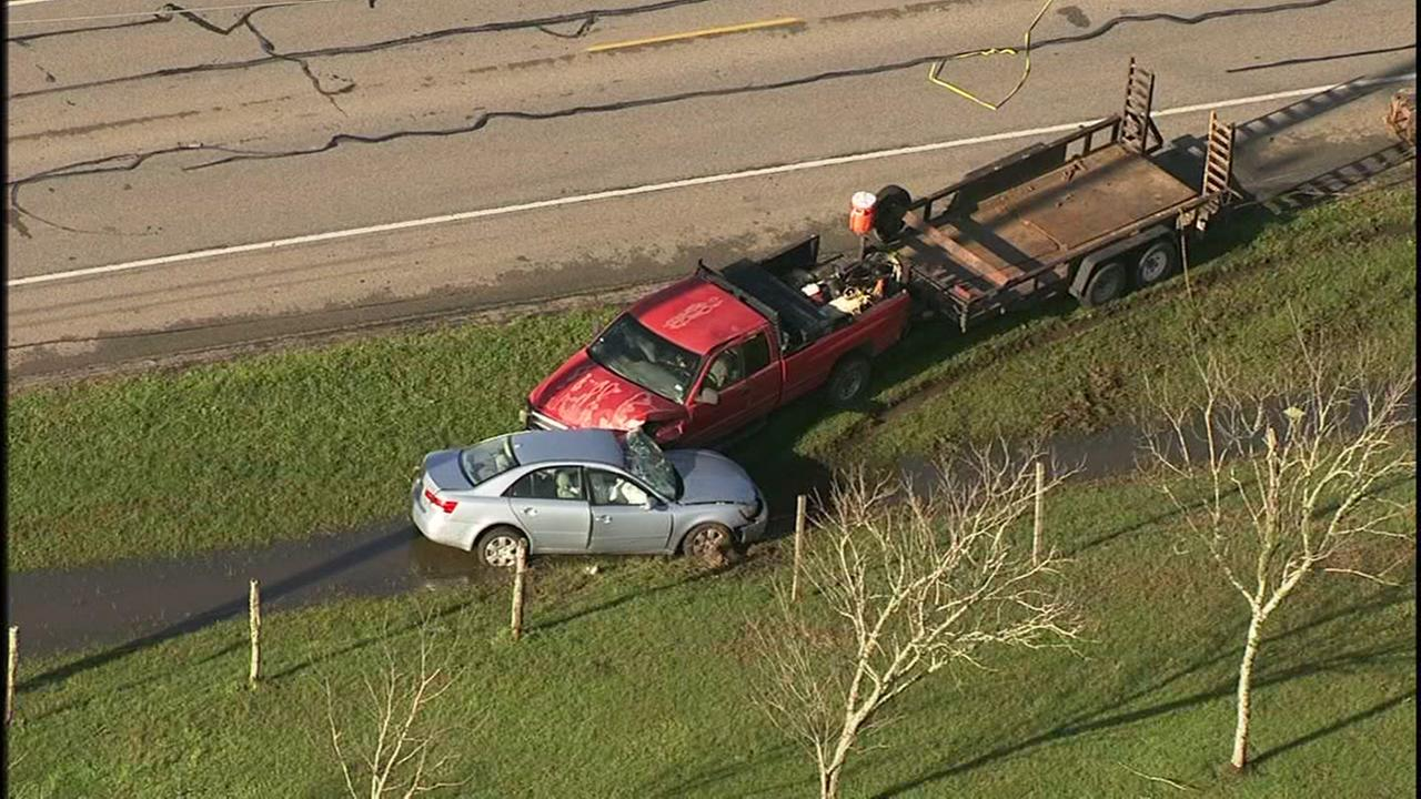 Fatal crash involving Honda and truck with trailer in Fort Bend County