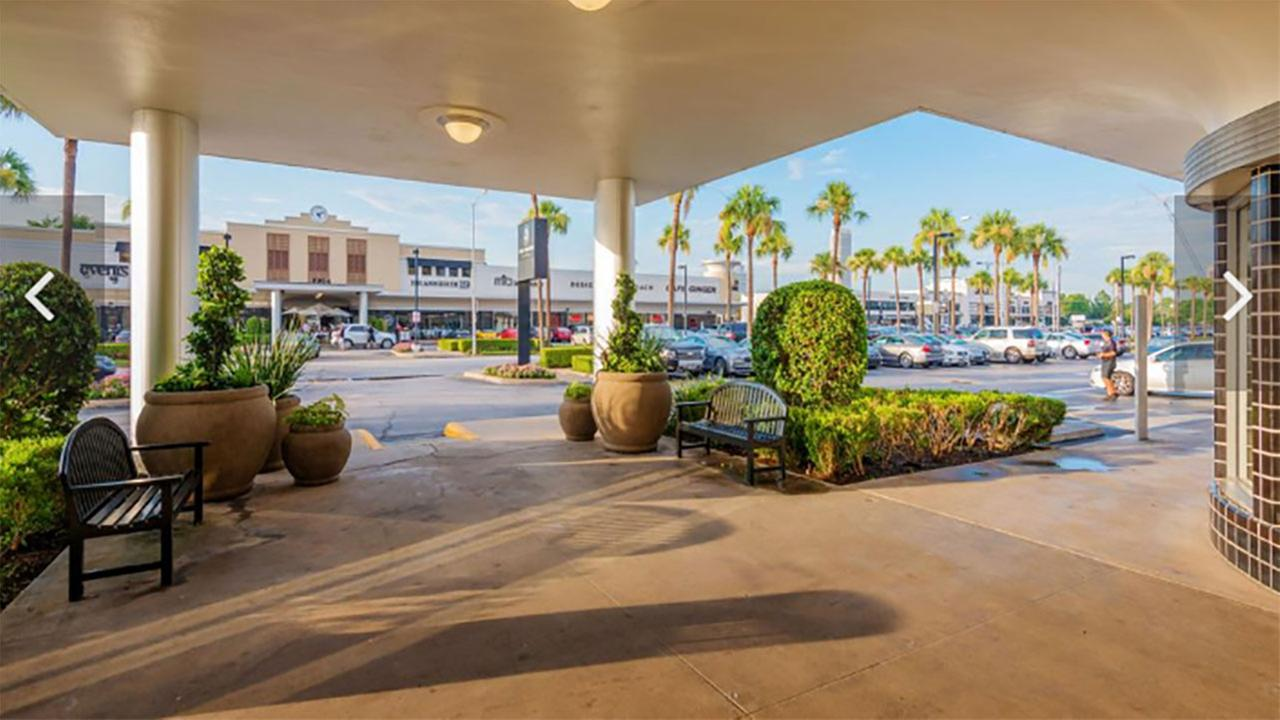 A view of the River Oaks Shopping Center from across the street. Courtesy Weingarten via Houston Business Journal