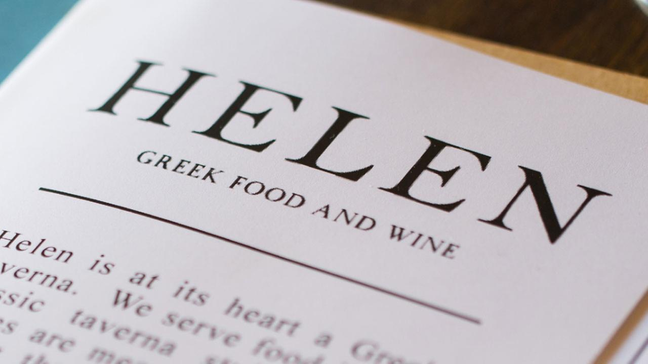 William Wright of Helen Greek Food and Wine has been nominated for Rising Star Chef of the Year.